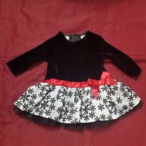 Red/blk/wht Koala Kids Dress